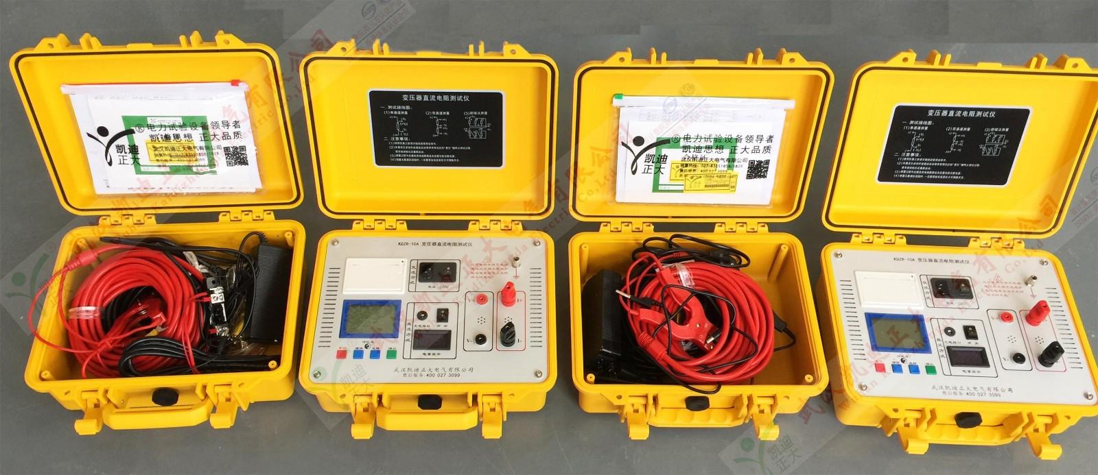 直流电阻的测量仪是变压器,互感器,电抗器,电磁操作机构等感性线圈